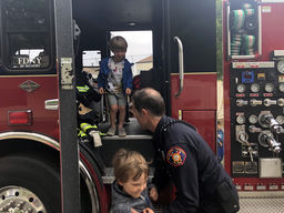 Fire Truck Visit at East Bay Camous